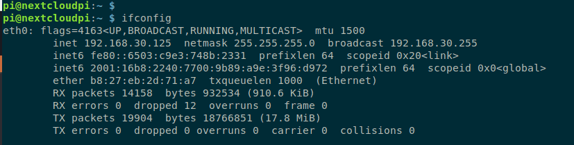 Nextcloudpi IP Adresse herausfinden