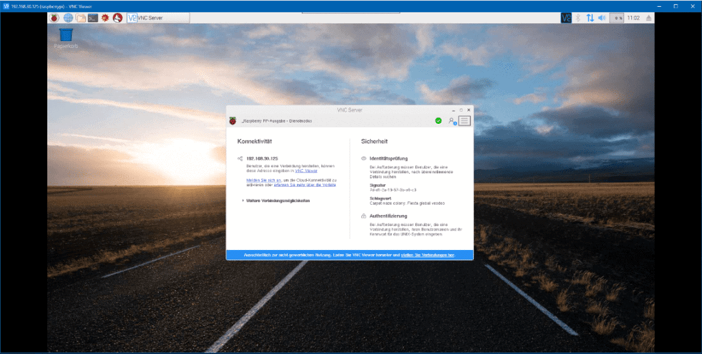 RealVNC Raspberry Pi Desktop