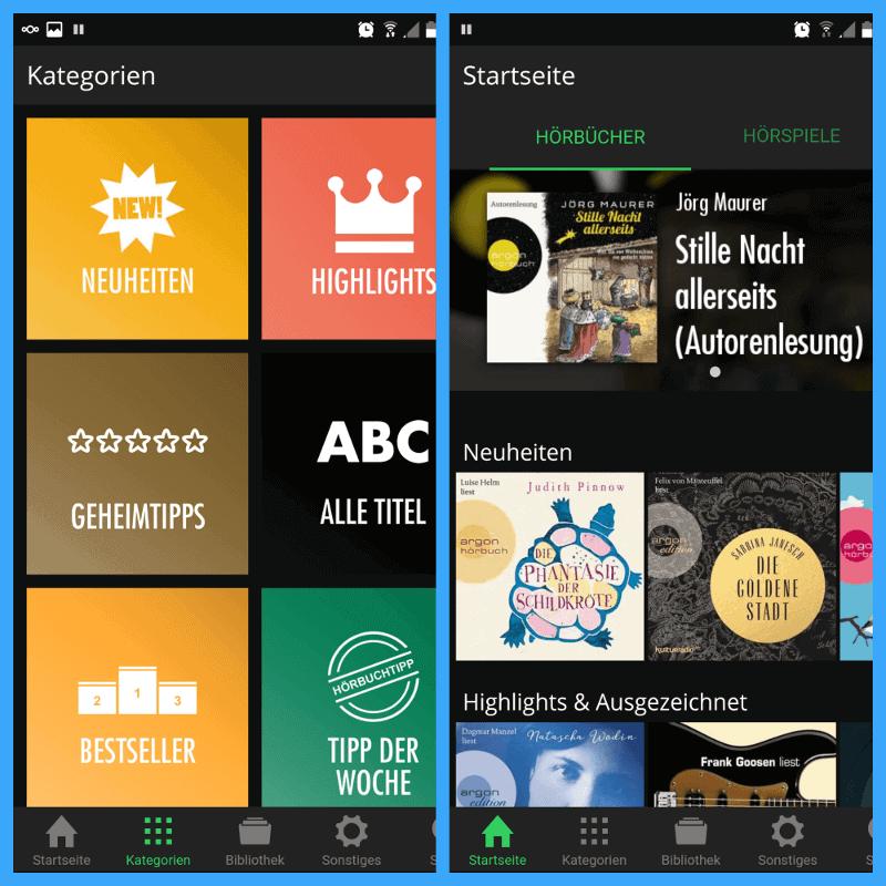 Spooks App Übersicht