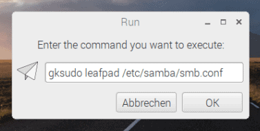 leafpad als root