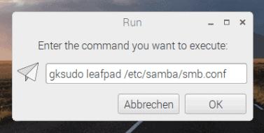 Leafpad als Root öffnen