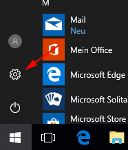 Windows 10 Startmenü Einstellungen