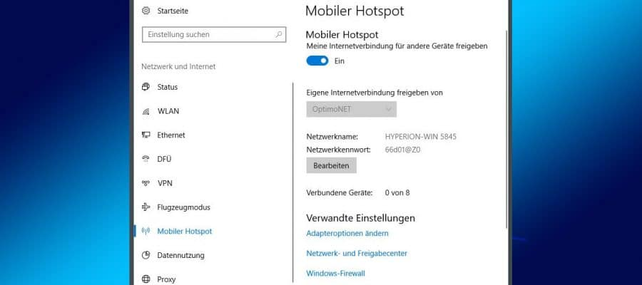 Windows 10 WLAN Hotspot Beitragsbild