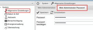 Openmediavault Passwort ändern