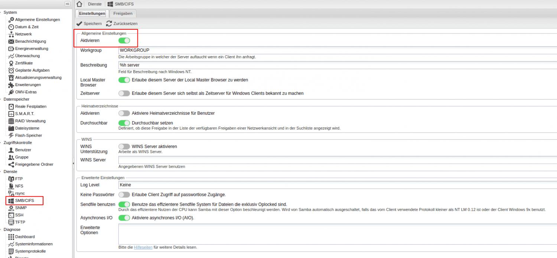 Selbstbau-NAS mit Raspberry Pi und Openmediavault 3