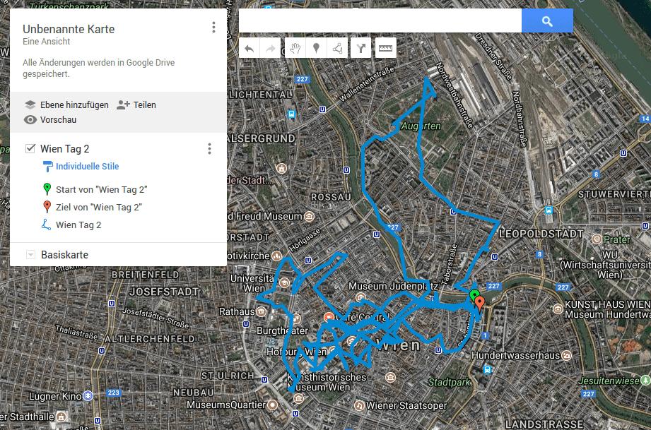 GPS Datei in Google Maps anzeigen