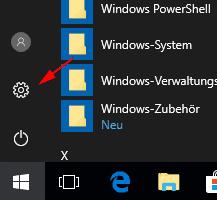 Windows 10 startmenü Einstellungen aufrufen