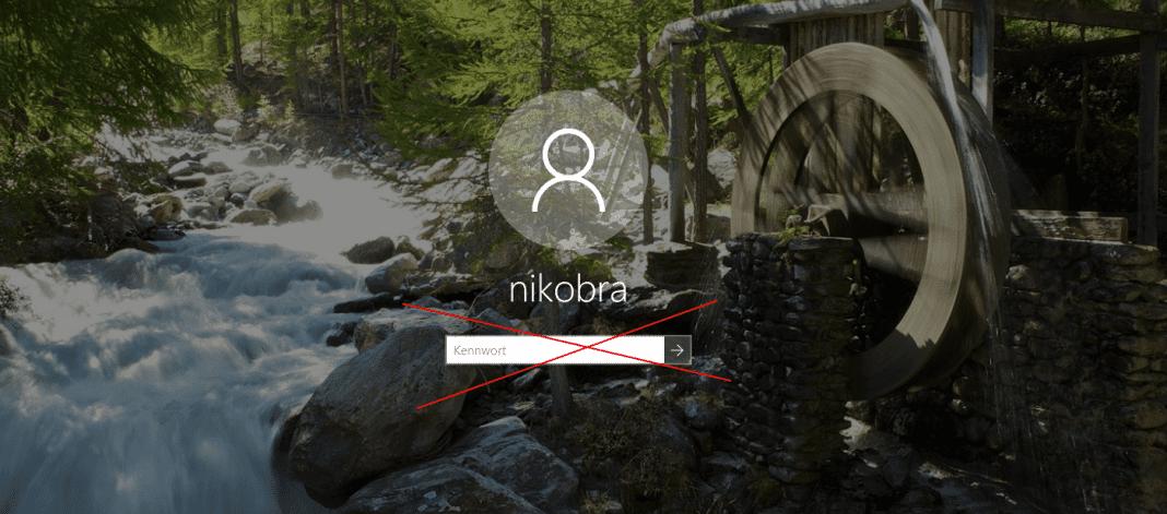 bei Windows 10 ohne Passwort anmelden Beitragsbild