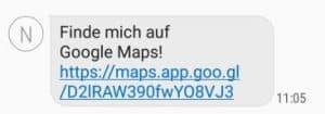 finde mich auf Google Maps