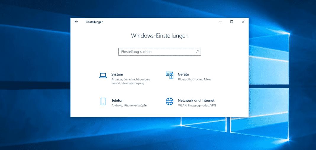 Windows 10 Einstellungen Beitragsbild