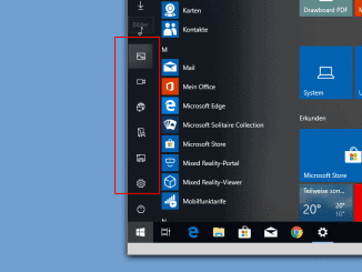 Windows 10 Startmenü Sidebar konfigurieren Beitragsbild
