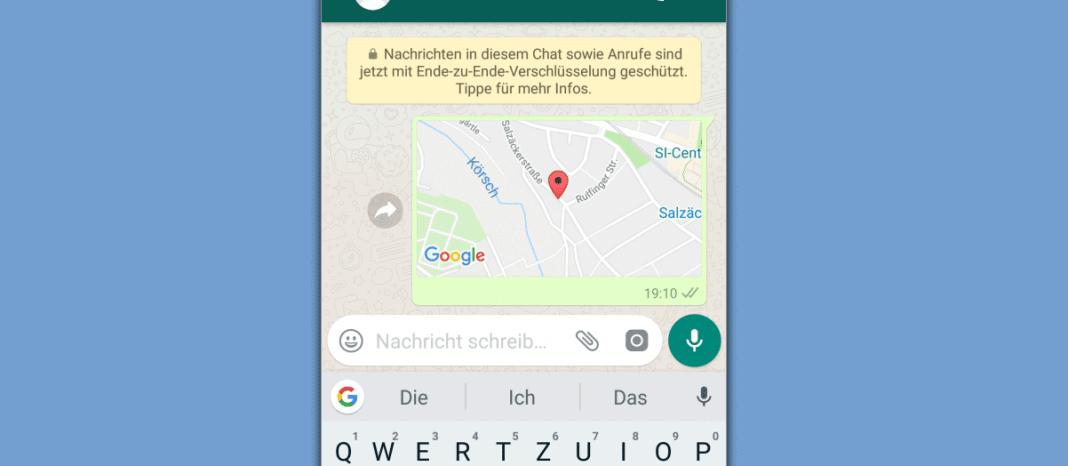 Position über WhatsApp teilen Beitragsbild