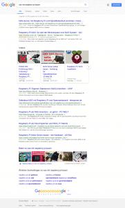 Suchergebnisse bei Google