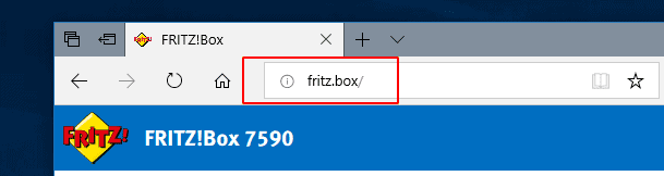 Fritzbox Login über Domain