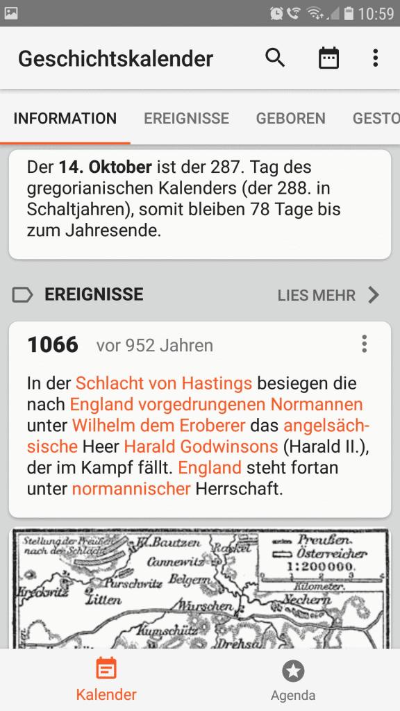 Geschichtskalender App