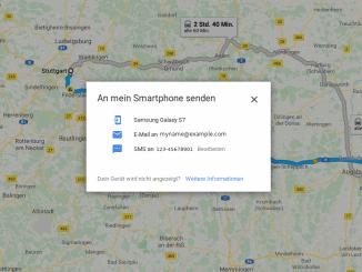 Route auf Smartphone übertragen Beitragsbild