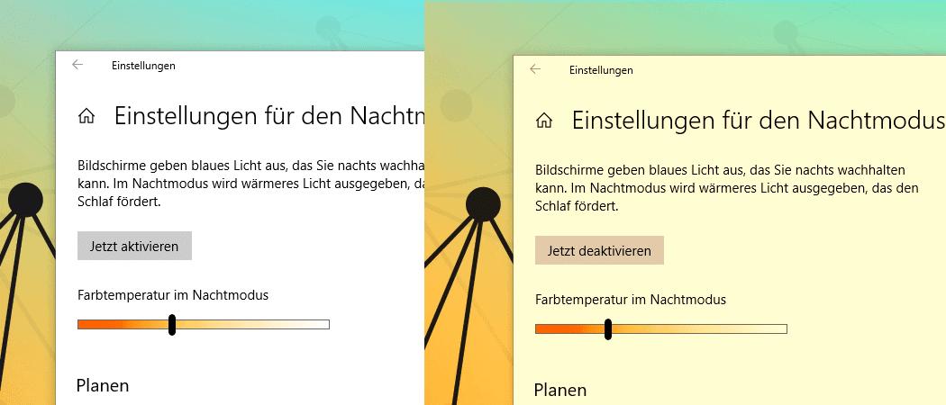 Windows 10 Nachtmodus Beitragsbild