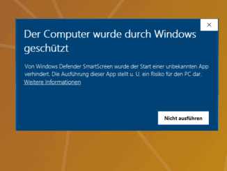 Windows 10 Smartscreen verhindert Installation Beitragsbild