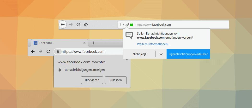 Push Benachrichtigungen im Browser deaktivieren
