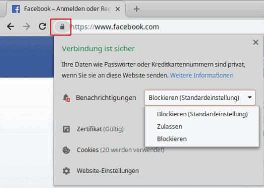 Chrome Benachrichtigungen für bestimmte Webseiten erlauben