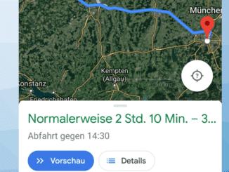 Google Maps Zeit angeben Beitragsbild