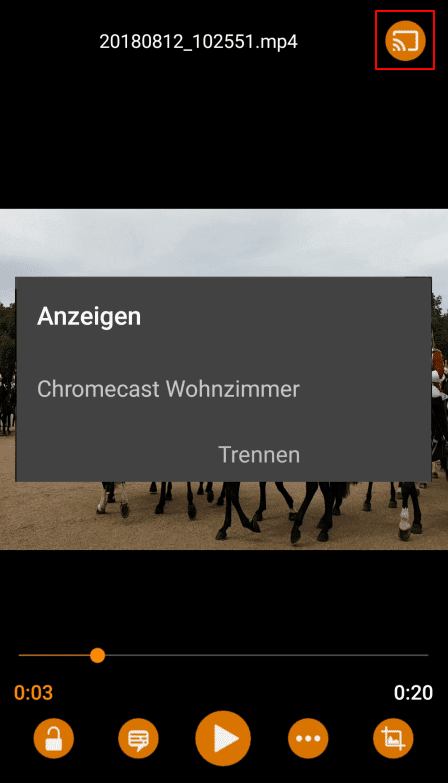 Videos vom Smartphone zu Chromecast streamen