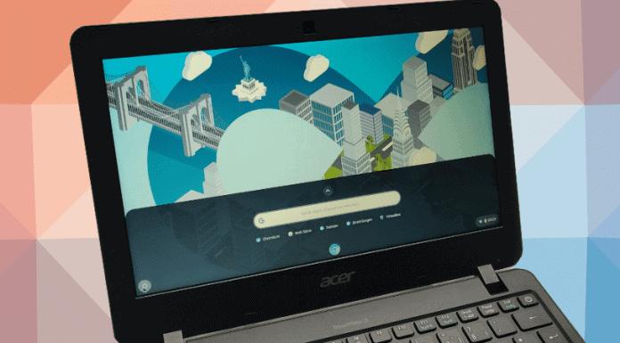 Laptop mit Cloudready Chrome OS