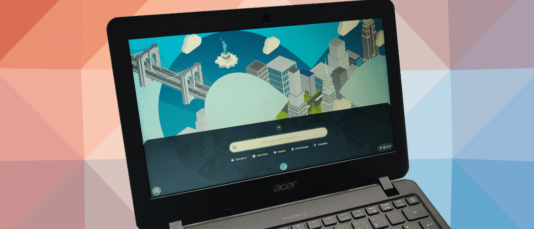 Laptop mit Cloudready Chrome OS