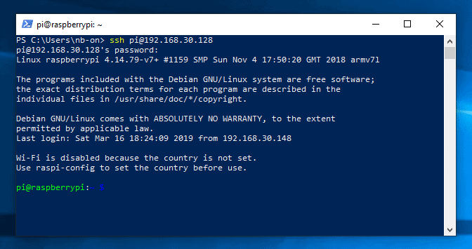 Windows 10 Powershell SSH