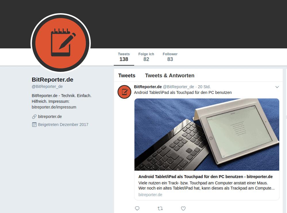 Bitreporter.de auf Twitter