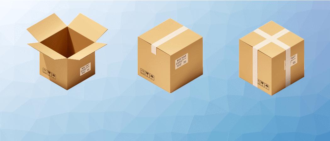 Pakete entpacken Beitrag