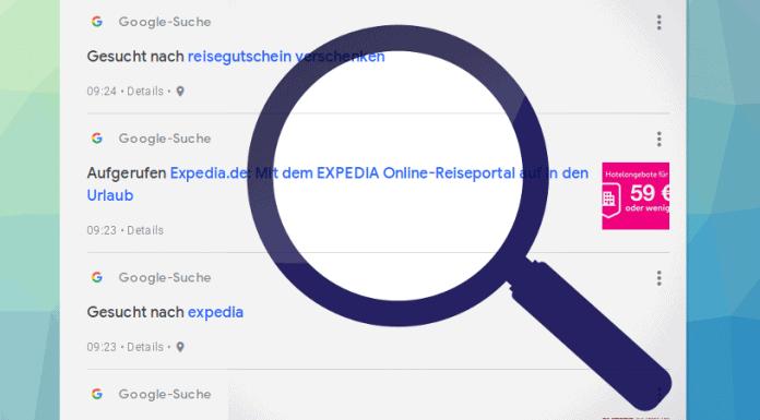 Google Suchhistorie löschen