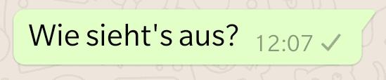 WhatsApp ein grauer Haken
