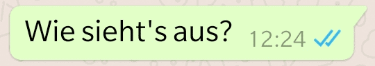 WhatsApp zwei blaue Haken