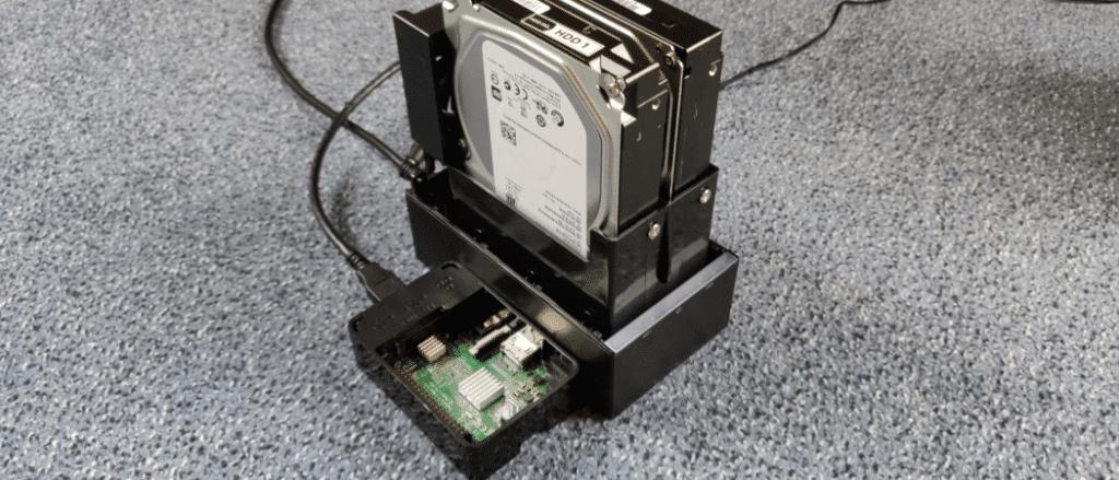 Raspberry Pi mit externem RAID-System