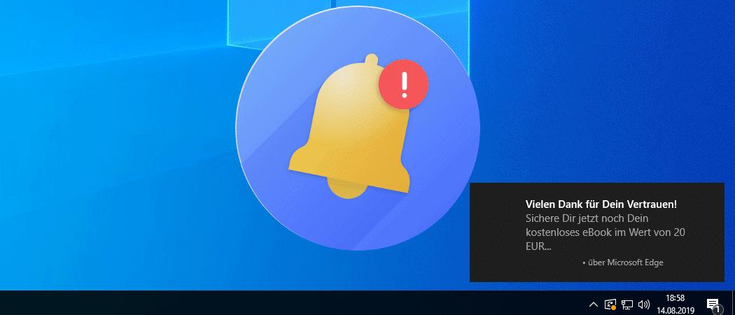 Windows 10 Benachrichtigungen deaktivieren Beitrag