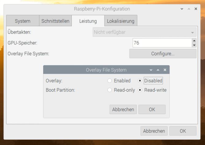 Raspberry Pi Einstellungen Leistung