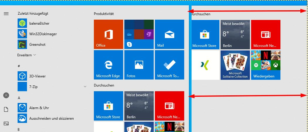 windows 10 startmenü anpassen geht nicht