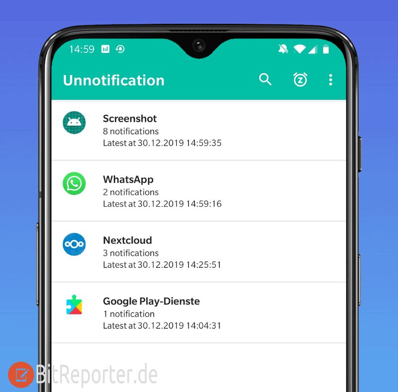 Unnotification Android App