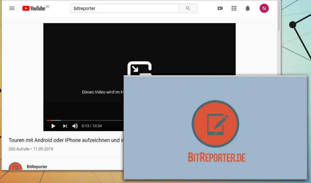 Video mit Firefox in separatem Fenster wiedergeben.