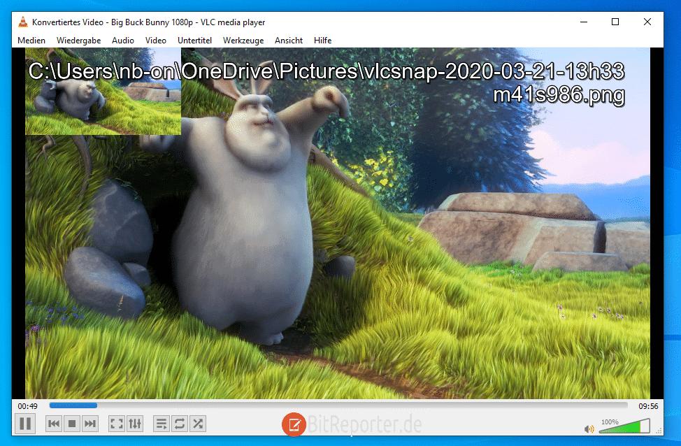 Screenshot mit dem VLC-Player erstellen