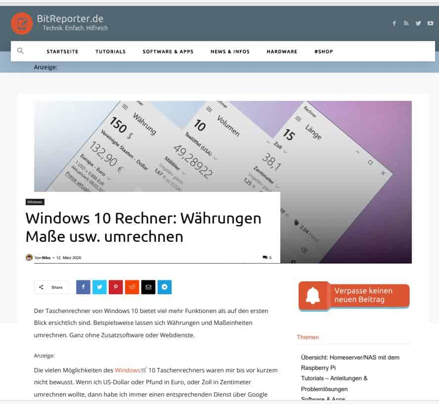PDF einer Webseite, erstellt mit Opera