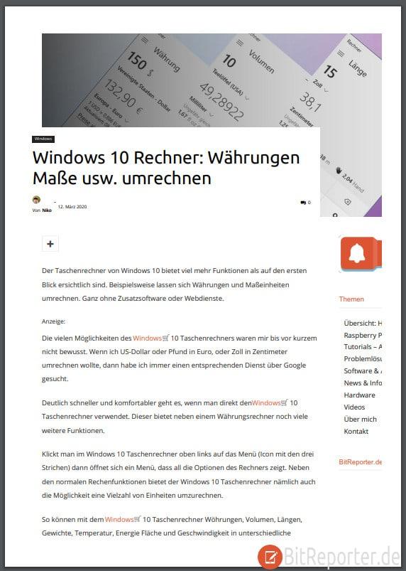 PDF einer Webseite, erstellt mit PDF24Tools