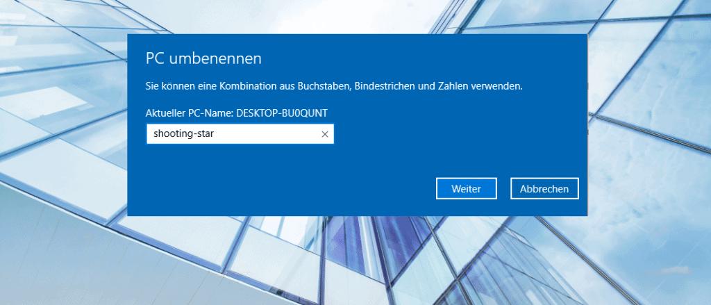 Windows 10 Computername herausfinden und ändern - BitReporter