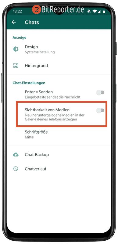 Automatisches speichern von WhatsApp-Bildern auf Android deaktivieren