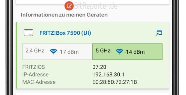 Signalstärke 2,4 GHz vs 5 GHz