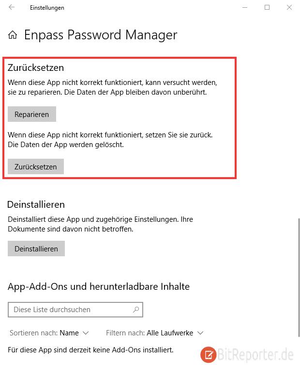 Microsoft Store Reparieren