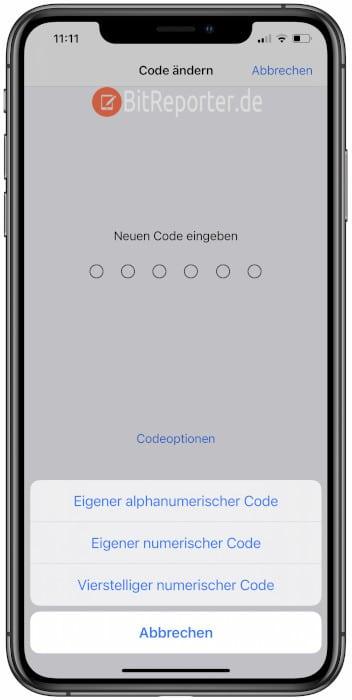 iPhone Lockscreen-PIN ändern Schritt 3
