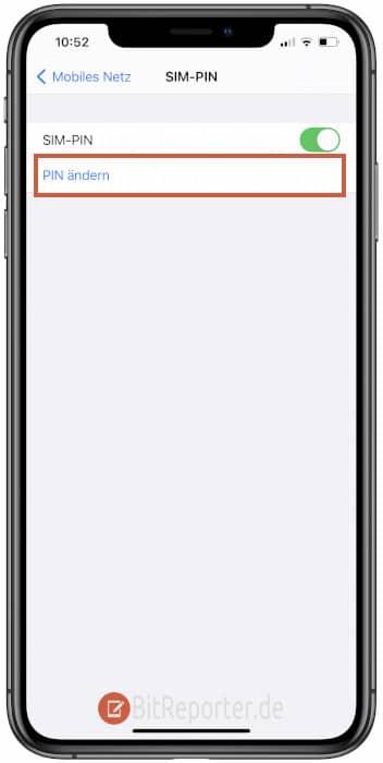 iPhone SIM-PIN ändern Schritt 3