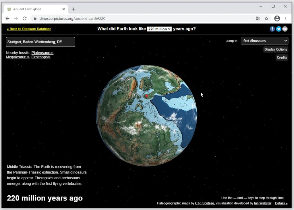 Erdoberfläche vor 220 Millionen Jahren